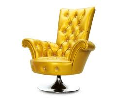 golden armchair