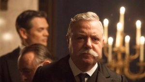 John Sessions as Sir Arthur Conan Doyle in Mr Selfridge