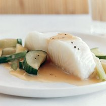 sea bass in champagne sauce by Jim Franco